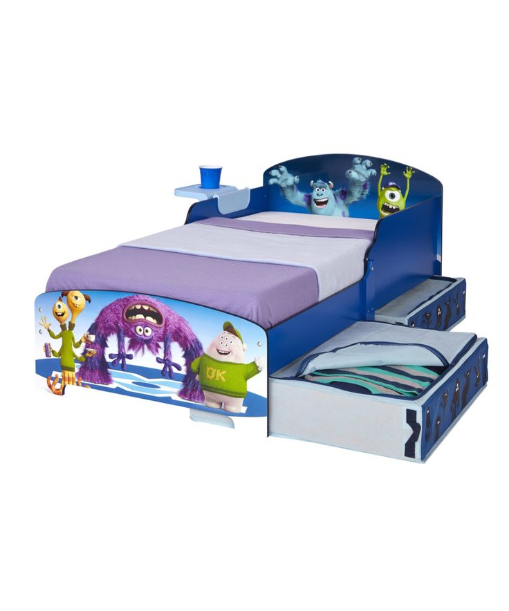Monsters Toddler Bed with bedside shelf and under bed storage - toddler beds - Mothercare