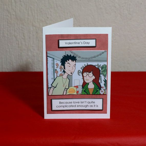 Complicated Love Daria Greeting Card by HoneysDead on Etsy