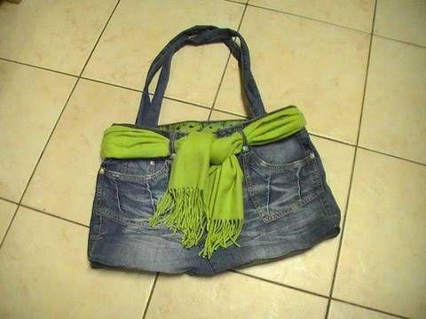 "Ideas para reciclar pantalones ""Bolso"""