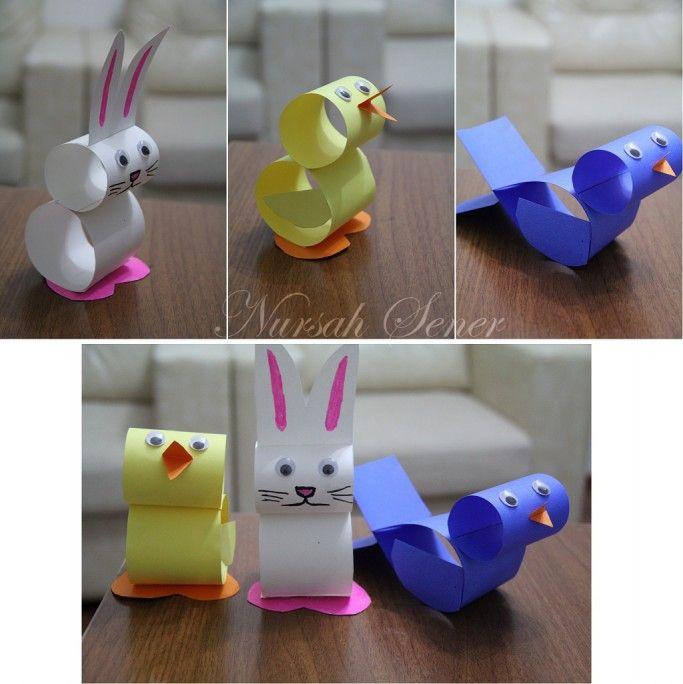 carton bird, chick, rabbit