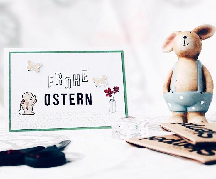 Team Mitglied Anna (@wolkenbrueche) hat heute eine neue gestempelte Oster Inspiration für dich jetzt aufm #papierprojekt Blog.