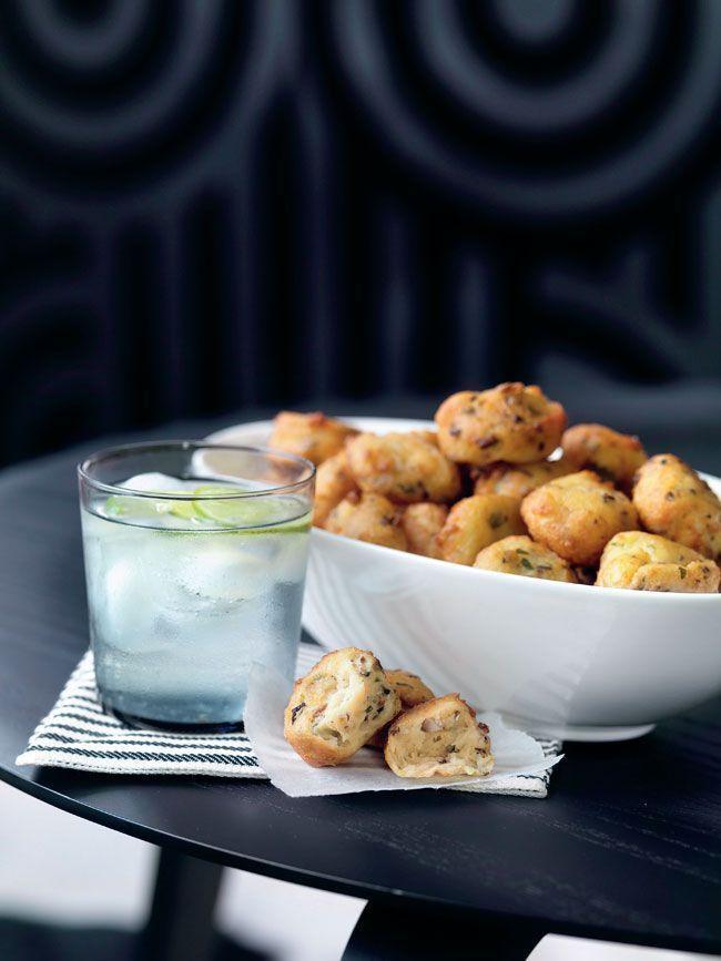 Des beignets champignons-fromage