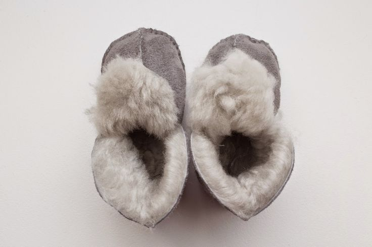 Sheepskin baby slippers