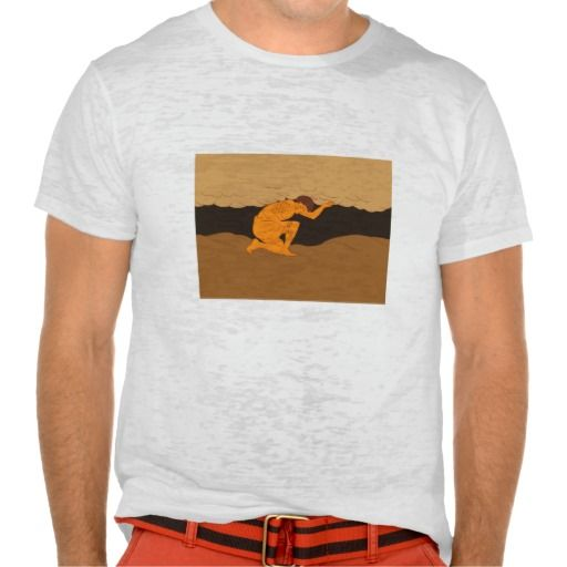 Samoan Atlas Holding Sky from Earth Drawing T-shirt. Drawing sketch style illustration of a Samoan Atlas kneeling looking to the ground holding sky from earth viewed from the side. #Drawingsketch #SamoanAtlasHoldingSkyfromEarth