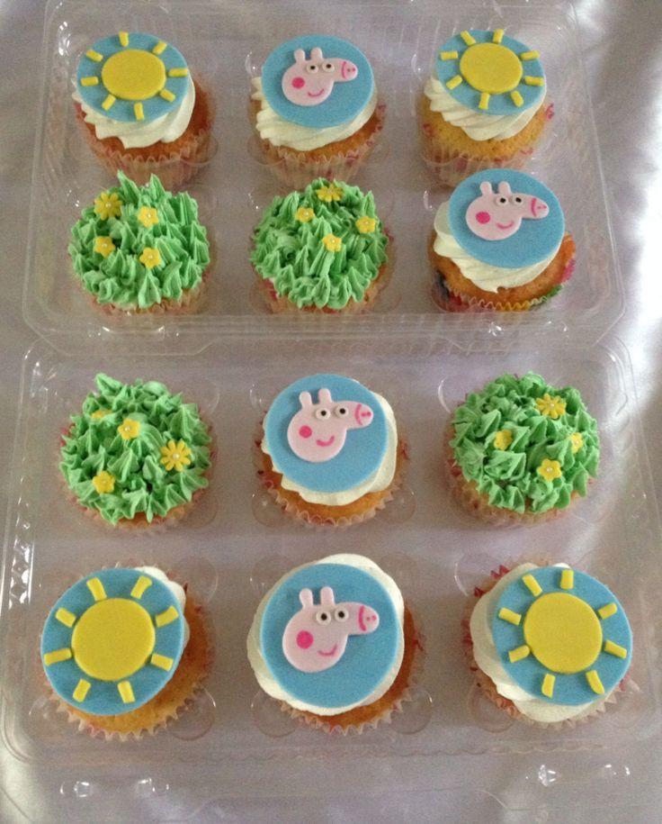 Cupcakes de peppa