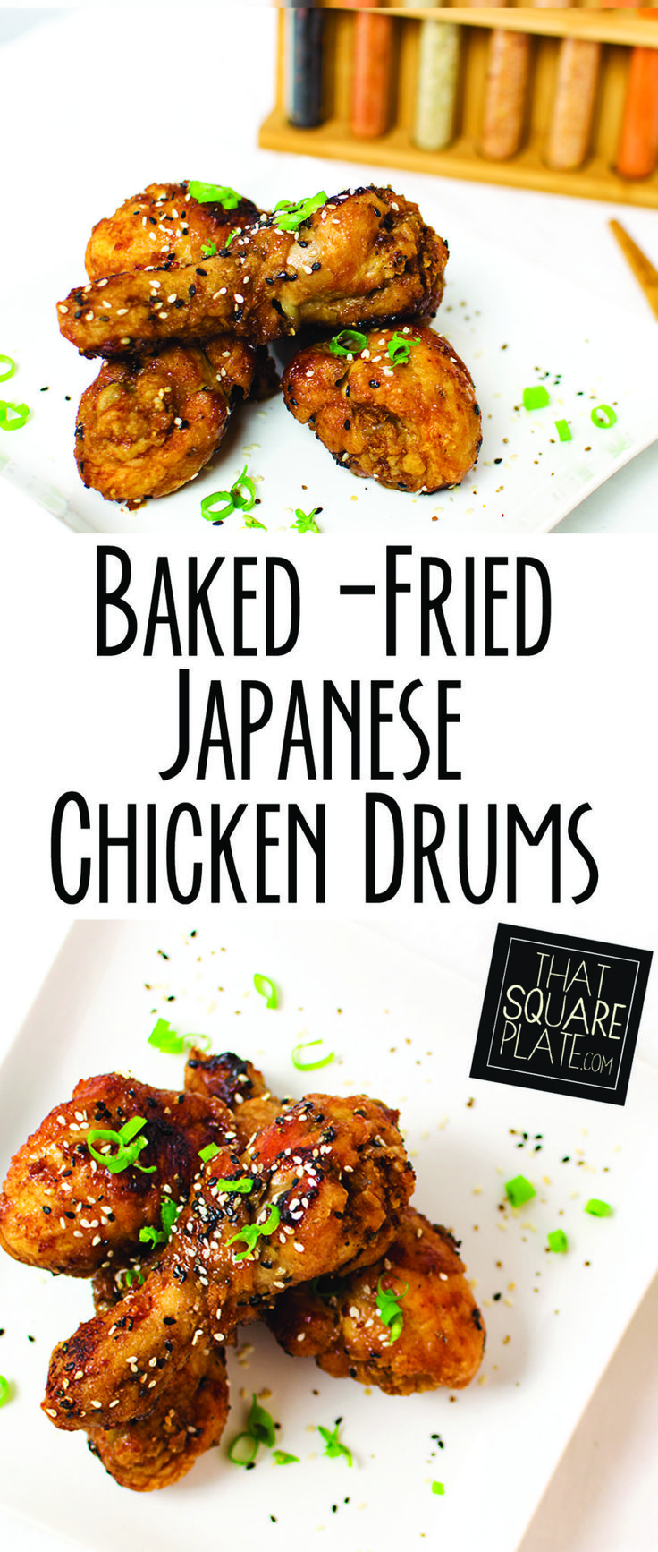 These chicken drums are first fried, tossed in an salty-sweet sauce, and then finished in the oven for a perfect crispy skin and Asian flavor.