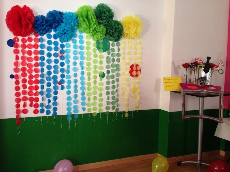 Photocoll, colorines, pompones, guirnaldas, hecho a mano, accesiorios, bigotes, pajaritas, cumpleaños 26 y 27 años