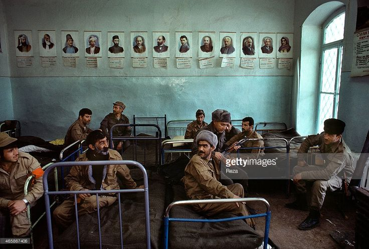Azerbaijani soldiers occupy a school in May 1992 in Shusha, Azerbaijan. On May 8, 1992, the Armenian military launched their operation to capture the city of Shusha. The region had been encircled by Armenian troops for a few months leading up to the invasion. During the siege, most of the city was destroyed by bombs so the Azerbaijani soldiers used the school in the city as their living quarters. Shusha was the historical and cultural center of the Karabakh region and Azerbaijans last…