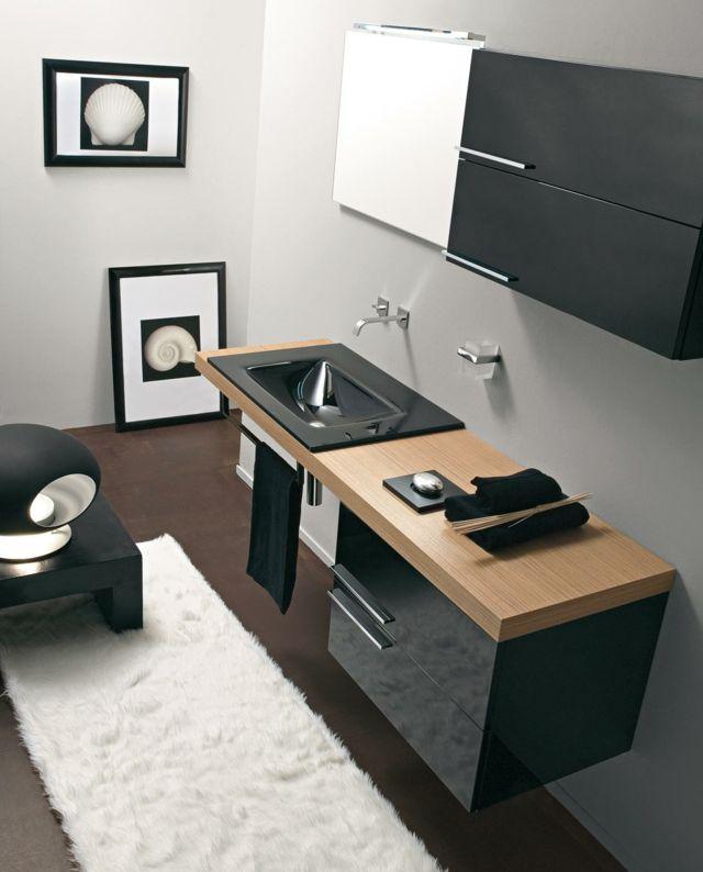 Modernes Badezimmer Sets Holz Gefertigt Spiegel Spiegelschrank Schrank Platz Sparen