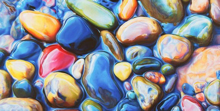 Non è un disegno medio di una roccia: alvei Colorful elaborato con la matita da Ester Roi rocce disegno a colori
