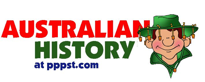 Australia History for Kids - FREE Presentations in PowerPoint format, Free Interactives and Games