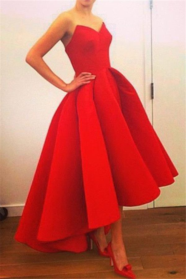 7cdd571fab Red Sweetheart High Front Low Back Prom Dress 2015 Elegant Sexy Plus Size Formal  Dress