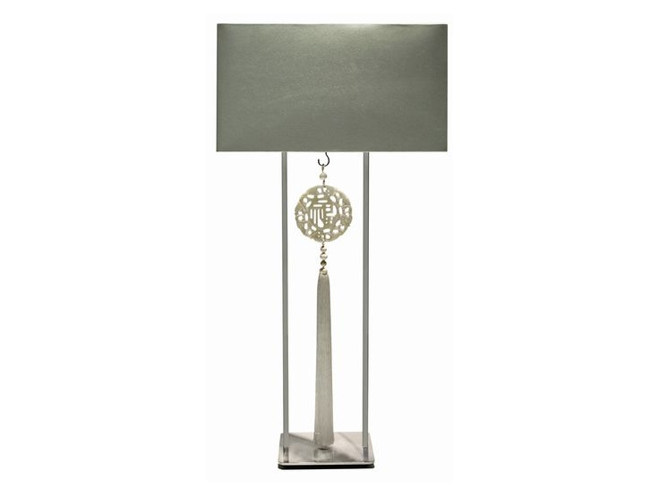 Louise bradley table lamp with trident tassel
