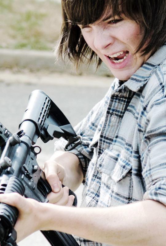 """The Walking Dead Season 6 Episode 2 """"JSS"""" Carl Grimes"""