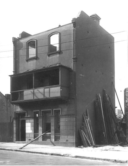170 Princes Street, The Rocks. 25 July 1927 NSCA CRS 51, Demolition books, 1900-1949 NSCA CRS 51/1343, City of Sydney Archives. 001\001567