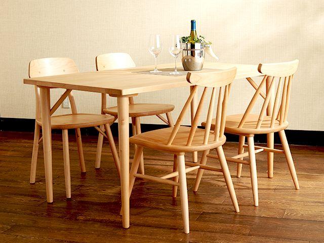 メイ ダイニングテーブル 140 ¥61,560- http://www.keyuca.com/furniture/table/may-t/