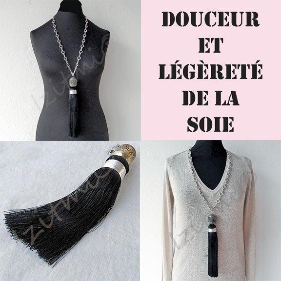 Sautoir Essaouira noir  http://izitmi.com/37-sautoirs