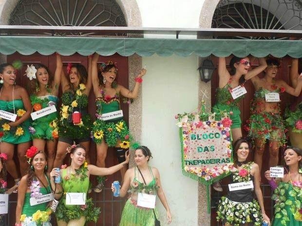 Meninas criaram o bloco das trepadeiras no Centro do Rio (Foto: Arquivo pessoal)