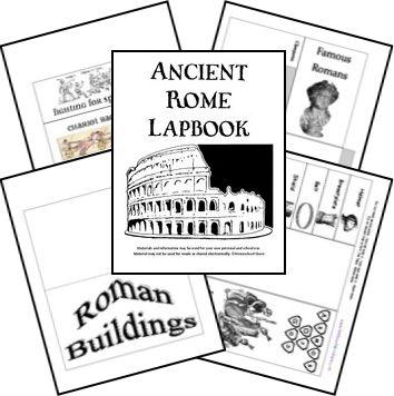 This FREE Ancient Rome lapbook includes themed such asRoman Empire, Julius Caesar, gladiator, Nero, Pompeii, Mt. Vesuvius, Roman gods