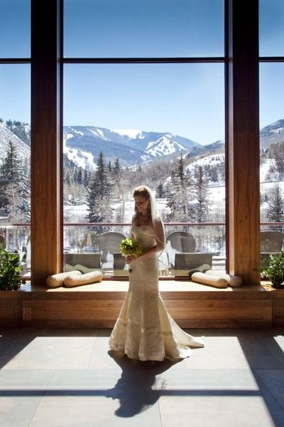 This photo makes me rethink having a winter wedding. Beautiful Wedding Ceremony & Reception Venue
