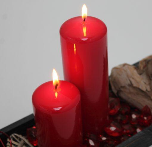 Røde laklys #LevendeLys #Valentinsdag