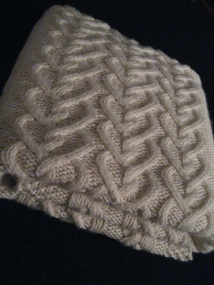Free knitting pattern for Levi's Baby Blanket with heart cable motif and more baby blanket knitting patterns