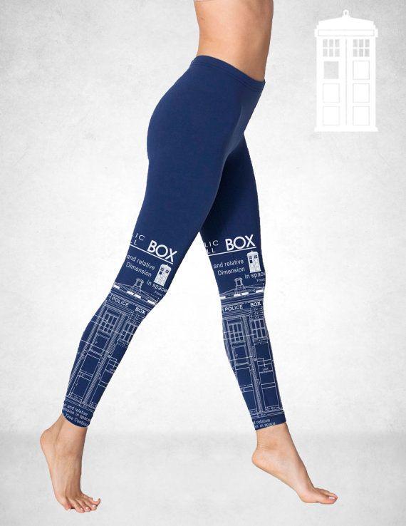 TARDIS Blueprints Leggings american apparel