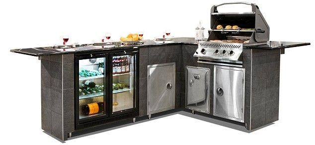 Modular bbq island kits outdoor bbq island kits home for Modular outdoor grill islands