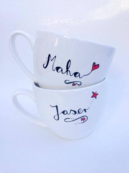 Becher & Tassen - Namenstasse  ♥ Tasse mit Namen Jumbotasse  - ein Designerstück von Hoch-Die-Tassen bei DaWanda