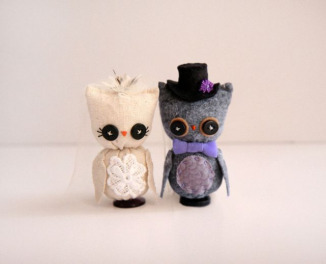 Owl Wedding Cake Toppers By Skunkboy Creatures