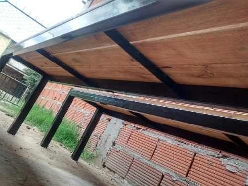 bancos en hierro y madera reforzado 2 m de largo