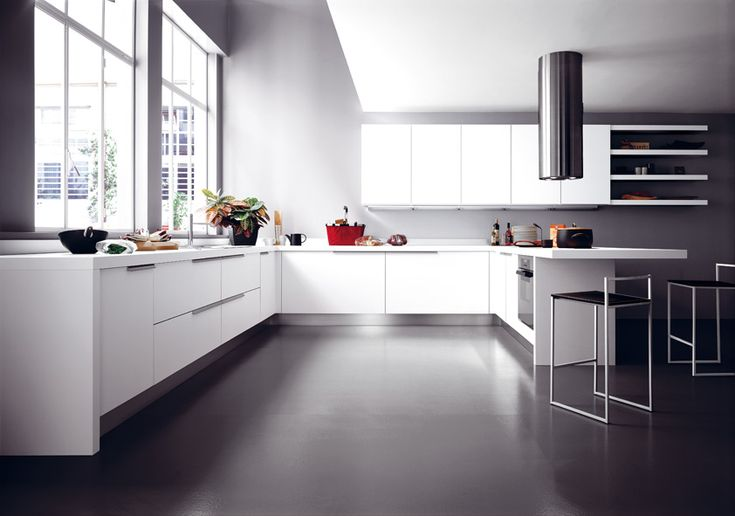 #Ariel in laminato bianco. Ariel in white laminate. #Cesar #Cucine #Kitchens