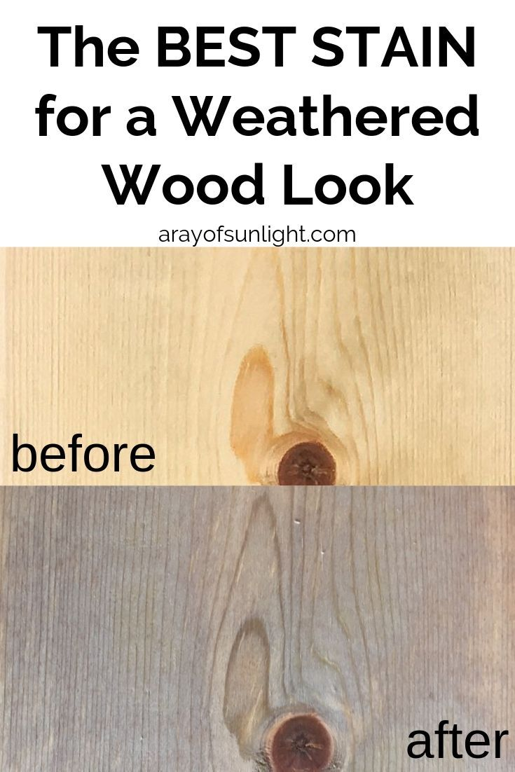How To Give Wood A Weathered Look For Your Farmhouse Style Diy Furniture Projects And Crafts This Diy Weathered Wood Stain