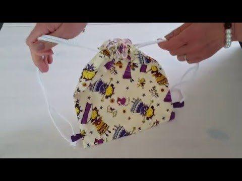 une confection simple, facile et rapide pour faire un sac à dos doublé a bretelle coulissante pour enfant.