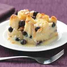 Blueberry Bread Pudding with Creamy Vanilla Glaze Recipe