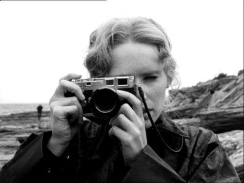 Liv Ullmann with Leica M3 in Bergman's Persona, 1966.
