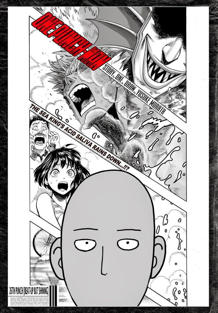 One punch man Genos vs sea King  now saitama will enter