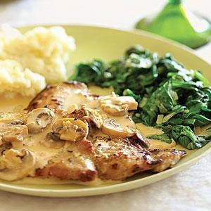 Veal Scaloppine with Mushroom Marsala Sauce - Time: 30 minutes..  Print this recipe at AmericanFamily.com.