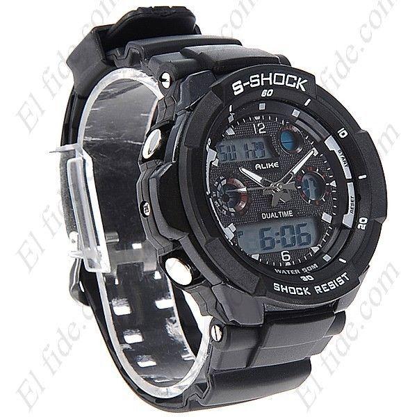 Reloj deportivo para hombre de color negro, compralo en la tienda www.elfide.com