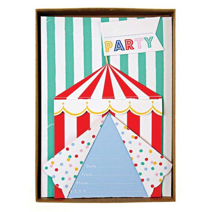 Eine Bunte Zirkus Party Mit Zuckerwatte, Popcorn U0026 Einem Clown Bringt Die  Kinderaugen Zum Leuchten. Mit Den Passenden Einladungskarten, Tellern