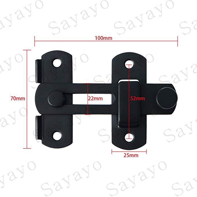 Amazon Sayayoドアロック スライド式 ゲートラッチ ボルトラッチ
