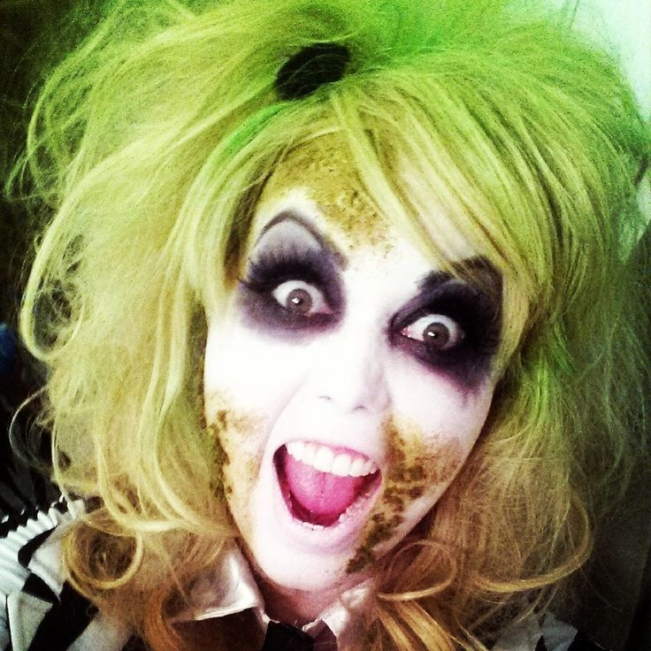 My Beetlejuice Halloween costume . beetlejuice makeup female beetlejuice