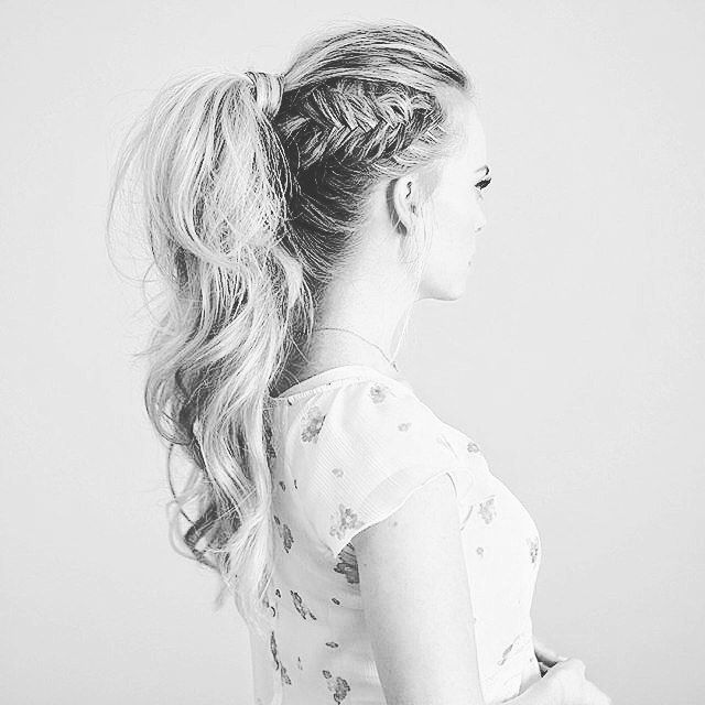 gorgeous braided pony tail                                                                                                                                                                                 More