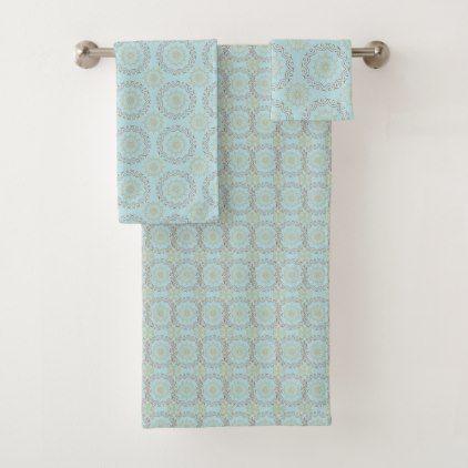 Elegant Mandala Pattern Bath Towel Set - home gifts ideas decor special unique custom individual customized individualized