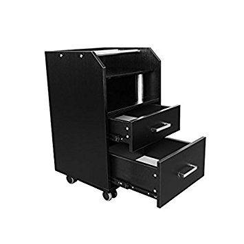 Glass Glow Pedicure Trolley BLACK Cart for Nail Salon Furniture & Equipment Review