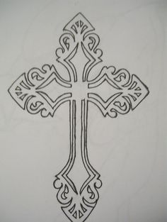 Cross Outline Tattoo Designs | celtic cross cross tattoo designs