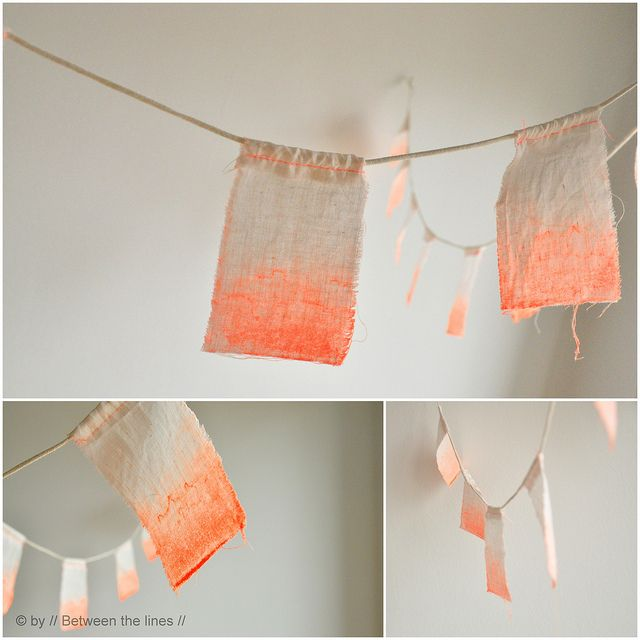 fluo ombre bunting flags