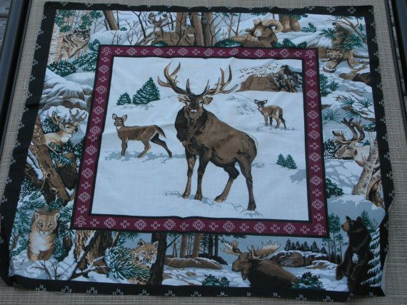 1000 Images About Cottage Quilts On Pinterest Deer Moose Quilt And Fabric Panels