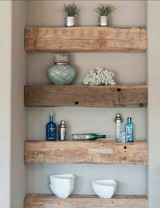 What a great replacement for an old built in bookshelf