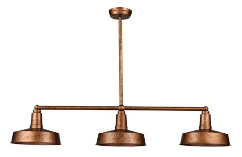 Shop Millennium Lighting 3 Light Neo Industrial Rubbed: This Three-light Copper Island Light Would Be Great In A
